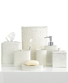 Closeout! Kassatex Bath Accessories, Damask Soap and Lotion Dispenser