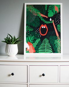 Jungle botanical poster