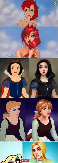 Artist Recreates Famous Cartoon Characters And The Results are Amazing #disney #art #artistofinstagram #sleepingbeauty #ariel #princesses #isabelle_staub #cartoons