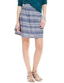 848da9ccb Navy Mix Striped Pleated Skirt Printed Shirts, Trousers, Leggings, Navy,  Range,