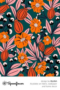 #Customize your own home decor, #wallpaper and #fabric at Spoonflower. Shop your favorite indie designs on #fabric, #wallpaper and home decor products on Spoonflower, all printed with #eco-friendly inks and handmade in the United States. #patterndesign #textildesign #pattern #digitalprinting #homedecor #Flowers #Buds Watercolor Pattern, Watercolor Flowers, Fabric Wallpaper, Floral Designs, Custom Fabric, Spoonflower, Diy Wedding, Digital Prints, Pattern Design