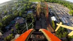 Goliath Wooden Roller Coaster REAL POV Six Flags Great America 2014