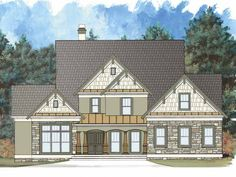 Home Plan HOMEPW00262 is a gorgeous 2773 sq ft, 2 story, 4 bedroom, 2 bathroom plan influenced by  Craftsman  style architecture.