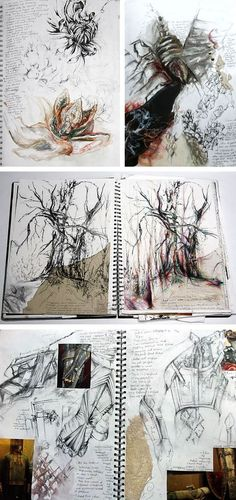 Drawing from observation - A Level sketchbooks by Halima