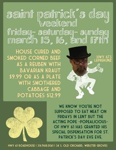 Next weekend swing out and visit little Billy O'Kunz.