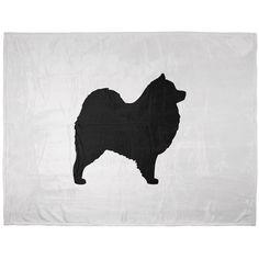 Samoyed Silhouette Soft Plush Blanket | AnimalWorld.com