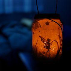 Light Up Your Kid's Night With These Magical Fairy Lanterns. - or make for holidays, Halloween Wine Bottle Fairy Lights, Fairy Lights In A Jar, Fairy Jars, Jar Lights, Pot Mason Diy, Mason Jar Crafts, Diy Resin Crafts, Fun Diy Crafts, Kids Crafts