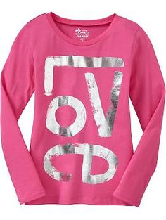 Girls Peace Sign Tees | Old Navy