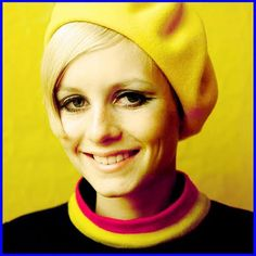 Twiggy.. back when they didn't photoshop every line out of a woman's smile.