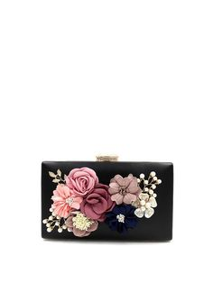 Shop Clutches - Black Evening Small PU Clutch online. Discover unique designers fashion at StyleWe.com.