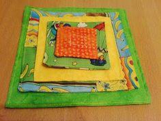 Nähen: Klett-Verschluss-Spiel für Kleinkinder