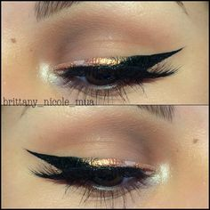 copper-gold-black eye makeup