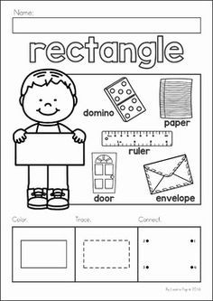 Resultado de imagen para shapes worksheets for preschool Preschool Printables, Preschool Classroom, Preschool Learning, Kindergarten Worksheets, In Kindergarten, Preschool Activities, Preschool Shapes, Teaching Shapes, Teaching Math