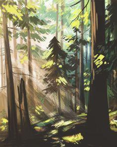 kerriaitken: Some foresty speedpaints. - Drawstin