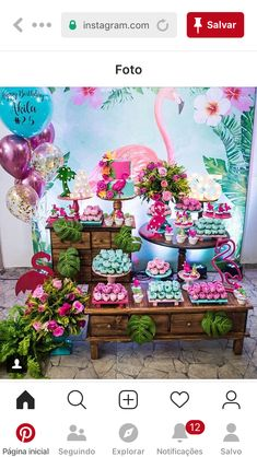 Birthday party flamingo dessert tables ideas for 2019 Hawaii Birthday Party, Flamingo Birthday, Birthday Bash, Birthday Party Decorations, Birthday Party Invitations, Party Themes, Flamenco Party, Tropical Party, Dessert Tables