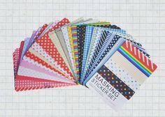 Masking Sticker Set - 27 sheets - 65x90mm Paper Deco Sticker Set Colorful Paper Tape Basic Multi Color tape