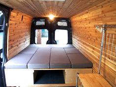 How to Sew Cushions for a Camper Van - Vanlife & Caravan Renovation Cargo Van Conversion, Sprinter Van Conversion, Camper Van Conversion Diy, Camping Car, Camping Hacks, Rv Hacks, Do It Yourself Camper, Ducato Camper, Kangoo Camper