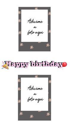 Happy Birthday Template, Happy Birthday Invitation Card, Invitation Cards, Creative Instagram Stories, Instagram Story Ideas, Instagram Frame Template, Happy Birthday Wallpaper, Birthday Frames, Instagram And Snapchat