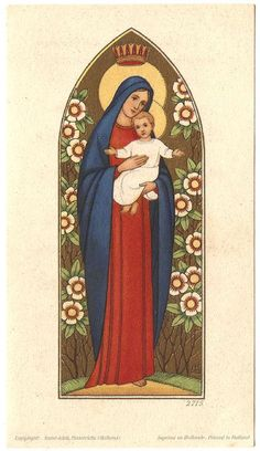 Blessed Mother Mary & Baby Infant Jesus Vintage by 12StarsVintage