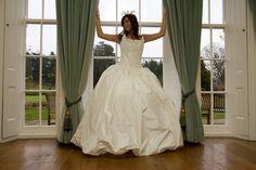 Fancy a bargin wedding dress?   SALE...SALE...SALE...One off Wedding dress. #Offwhite #silk #taffetta #silver #embroidery #Bridalgown #Silk dress. #Whiteweddingdress. https://etsy.me/2LQMhby #weddings #clothing #weddingdress #white #sale #oneoff