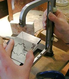 Making a tool stamp for stamping out flat metal shapes.