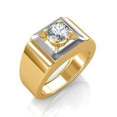 The Arthur Solitaire Ring For Him - Create Your Own Ring - Solitaire Jewellery