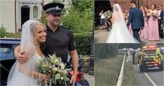 Inspector Geddes put his 'blues and twos' to ensure the bridal party arrived in spectacular style. Wedding Car, Wedding Goals, Wedding Dresses, Car Breaks, Feel Good Stories, Getting Engaged, Police Cars, Married Life, Fashion Pictures