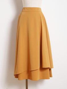 【Wrap long skirt】レディース ラップ スカート