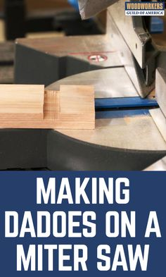 Need to make a dado or two? Not everyone knows this, but you can make dadoes on your miter saw. Yep, on your miter saw. No need to put a dado head on your table saw, or set up a router bit in a hand-held router or on a router table. If your miter saw has the right flip down stop, you can use it to make dadoes.
