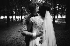 Beautiful high lace back with silk button detail on the 'Julia' Bertossi Brides gown from Paddington Weddings. www.paddingtonweddings.com.au