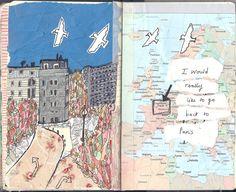 Dessin et carte :  Paris, France
