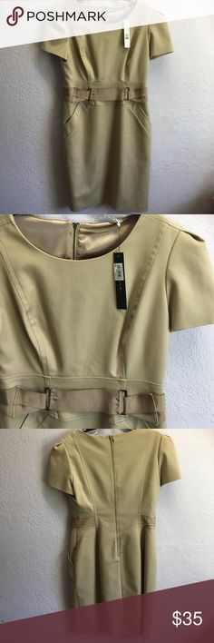 🔺 { nwt } Janine Camel Dress New with tags Janine Camel- Colored Dress that is form fitting and super cute ( but still very professional looking!!) looking for a great new home 😊 T Tahari Dresses