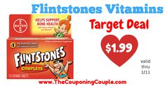 Head to Target and grab this quick deal Flintstones Multivitamins! Stock up for the year for your kiddos with this CHEAP DEAL! Target Deals, Target Coupons, Printable Shopping List, Printable Coupons, Coupon Matchups, Store Ads, Bone Health, Vitamins, Posts