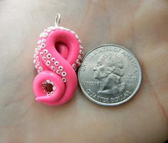 Hot Pink Octopus Tentacle Pendant by KrakenFashion on Etsy, $15.00