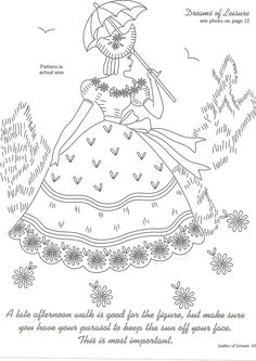 Vintage Embroidery Patterns Vintage - From Ladies of Leisure Book Embroidery Cards, Embroidery Transfers, Modern Embroidery, Hand Embroidery Patterns, Vintage Embroidery, Embroidery Applique, Cross Stitch Embroidery, Lazy Daisy Stitch, Embroidery Techniques