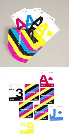 Helvetica CMYK playing cards / Ryan Myers