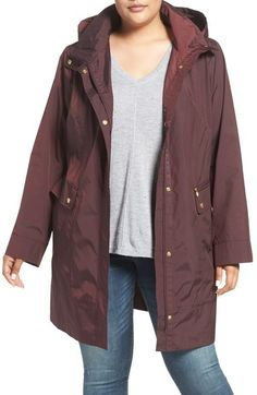 Cole Haan Water Resistant Rain Jacket (Plus Size) available at #Nordstrom