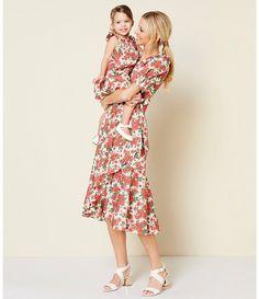 31136b8e0fd Antonio Melani Made With Liberty Fabrics Gilly Floral Print Tie Waist  Ruffle Hem Midi Dress