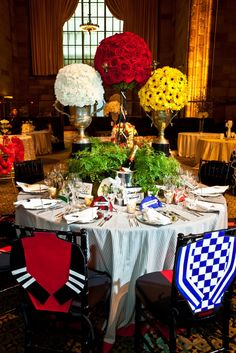 Lovely Kentucky Derby Tablescape   Love The Chair Covers