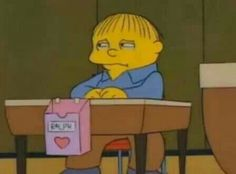 Ralph Wiggum on Valentine's Day. Or mine. Same difference. Bart Simpson, Simpson Wave, Tim Burton, Catwoman, Me On Valentines Day, Phineas Et Ferb, Collage Mural, Ralph Wiggum, Funny Cartoons