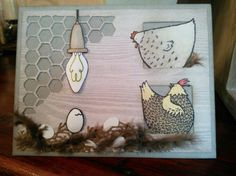 Hatching Egg in a Hen House Blank Card For Any Occassion using Stampin' Up! Stamps