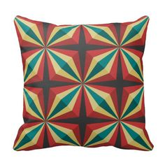 sunbeam color pattern pillows