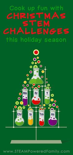 Cook up fun this holiday season with these Christmas STEM Activities and Challenges. Hands on learning the fun way! via @steampoweredfam