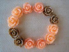 12PCS  Mini Rose Flower Cabochons  10mm  Resin  by ZARDENIA, $3.60