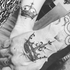King and Queen tattoo. Love tattoo