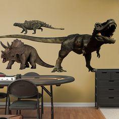 Dinosaurs Group Two REAL.BIG. Fathead – Peel & Stick Wall Graphic | Dinosaurs Wall Decal | Animal Decor