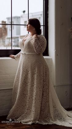Classy full lace blush plus size wedding gown with long sleeves. - Classy full lace blush plus size wedding gown with long sleeves. Studio Levana Source by Buntistbesser - Plus Size Wedding Dresses With Sleeves, Plus Size Wedding Gowns, Plus Size Gowns, Dress Plus Size, Plus Size Brides, Curvy Bride, Trendy Dresses, Long Dresses, Ivory Dresses