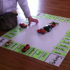 Learning is fun! Sight word parking lot