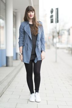 andysparkles: OUTFIT: Stan Smith & Blue Trench