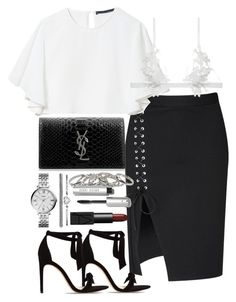 """""""Untitled #2082"""" by ritavalente ❤ liked on Polyvore featuring Glamorous, Zara, Alexandre Birman, Yves Saint Laurent, For Love & Lemons, FOSSIL, Bobbi Brown Cosmetics and NARS Cosmetics"""